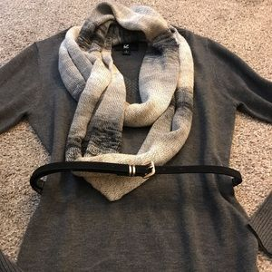 Iz Byer Sweaters - Sweater and scarf set with belt 🌟